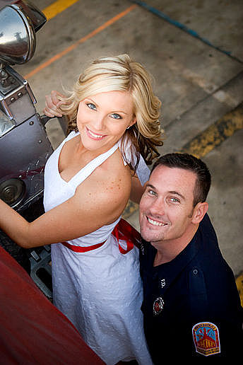 Fire Station Engagement Photographer