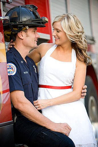Fire Station Engagement Photography