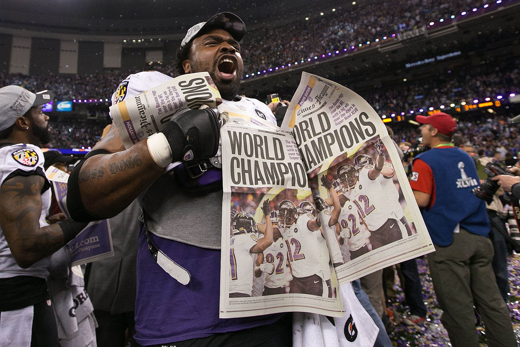 Bobbie Williams Super Bowl XLVII celebration